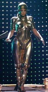Beyonce Metropolis Tin Breasts Tin Suit