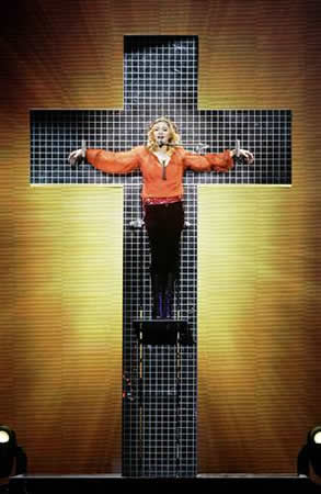 Madonna cross mockery